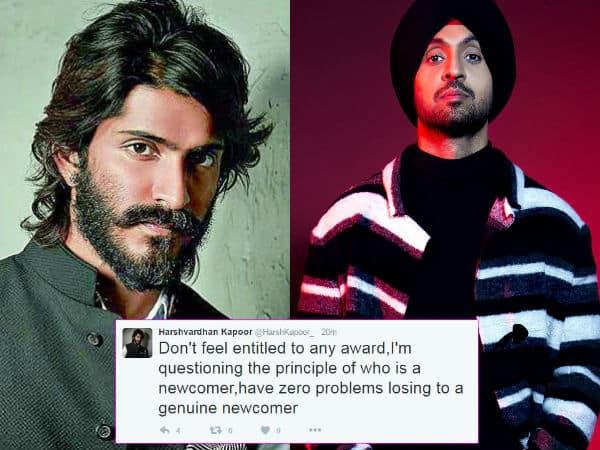 Harshvardhan Kapoor goes on a rant against Diljit Dosanjh's Best Debut win on Twitter