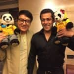 Salman Khan strikes a pose with Jackie Chan in this cuteliscious picture