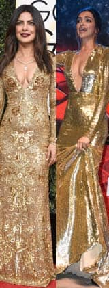 Deepika Padukone or Priyanka Chopra – whose golden avatar impressed you?