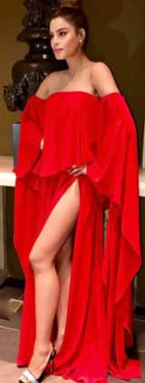 This actress just BEAT Deepika Padukone with the RISKIEST thigh high slit game