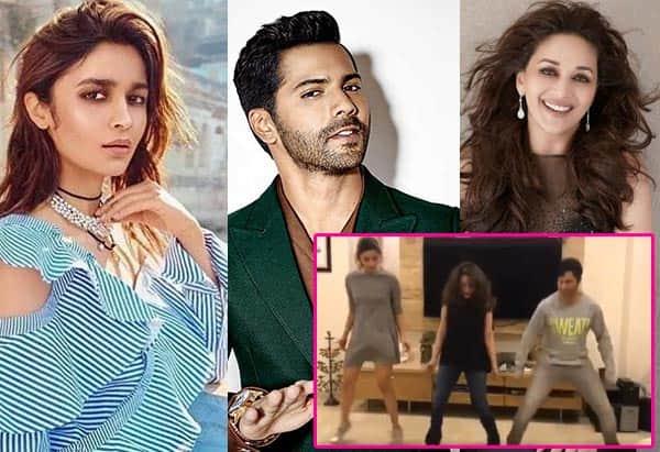 Madhuri Dixit-Nene saves the day for Alia Bhatt and Varun Dhawan; makes them groove to Tamma Tamma – watch video