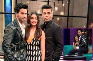Varun Dhawan prefers Alia Bhatt's lap over Koffee With Karan - watch video