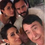 Kareena Kapoor Khan, Saif Ali Khan and Karisma Kapoor celebrate father Randhir Kapoor's 70th birthday without baby Taimur - view pics