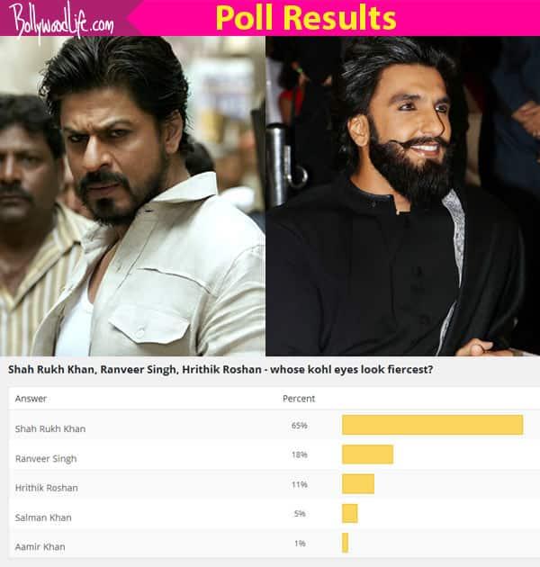 Shah Rukh Khan's fierce kohl eyes BEAT Ranveer Singh and Hrithik Roshan