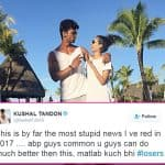 Kushal Tandon trolls an online portal for spreading rumours of him dating Beyhadh co-star Aneri Vajani