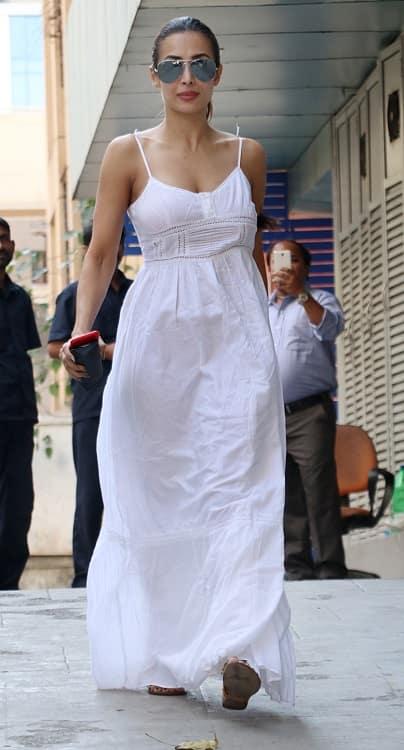 Malaika Arora Khan white maxi dress 1