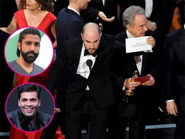 Farhan Akhtar, Karan Johar, Preity Zinta react to the Moonlight – La La Land goof up at Oscars 2017