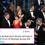 Now Mumbai Police trolls Academy Awards for its Best Picture blunder in its latest tweet