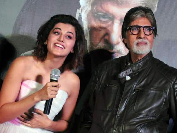 Amitabh Bachchan and Taapsee Pannu rub shoulders with President Pranab Mukherjee at the special screening of Pink
