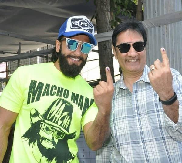 BMC elections 2017: Ranveer Singh casts his vote with father Jagjit Singh Bhavnani