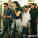 Shah Rukh Khan was spotted shooting at the airport - view HQ pics