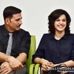 Akshay Kumar and Tapsee Pannu kickstart promotions for Naam Shabana- view HQ pics