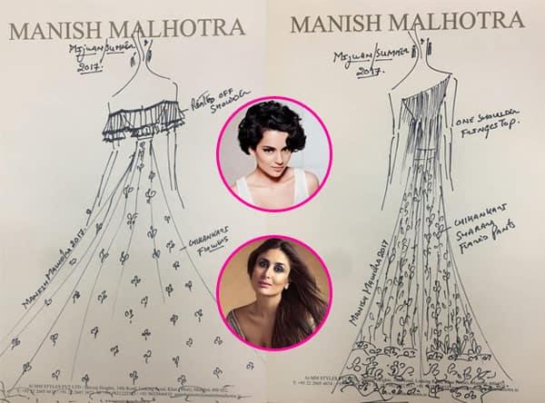 Kareena Kapoor, Kangana Ranaut, Alia Bhatt – who will walk the ramp for Manish Malhotra at Mijwan 2017? View sketches!