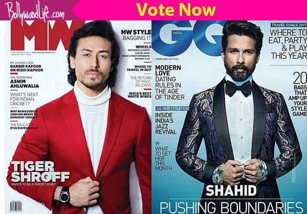 Tiger Shroff or Shahid Kapoor – Who is your favourite cover boy of the month?