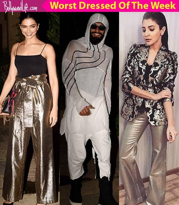 Deepika Padukone, Ranveer Singh, Anushka Sharma – meet the worst dressed celebs of the week