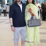 Newlyweds Neil Nitin Mukesh and Rukmini Sahay arrive back in Mumbai hand-in-hand - view HQ pics