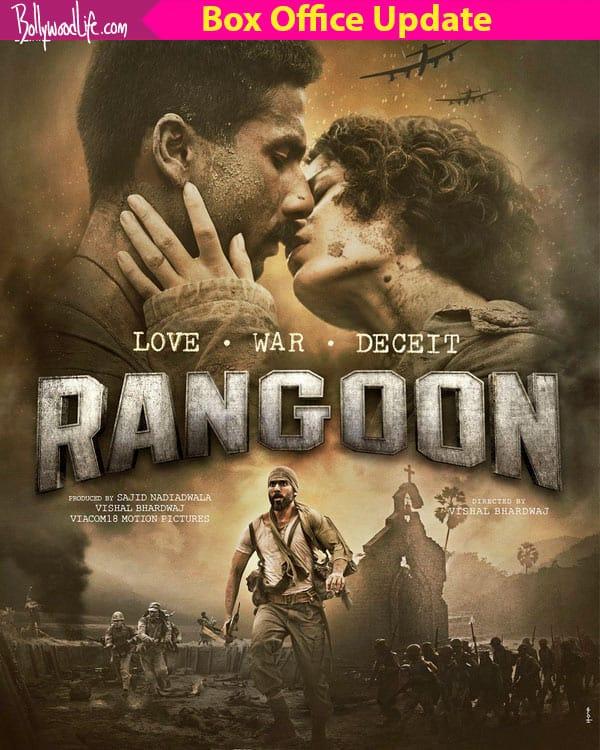 Rangoon box office collection day 4: Shahid Kapoor, Kangana Ranaut and Saif Ali Khan starrer earns Rs 20.22 crore
