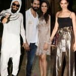 Ranveer Singh dressed as a condom while Deepika Padukone gift-wraps herself for Shahid Kapoor's pre-birthday bash - view HQ pics