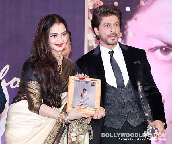 Rekha bestows Shah Rukh Khan with his fourth Yash Chopra Memorial Award – view HQ pics