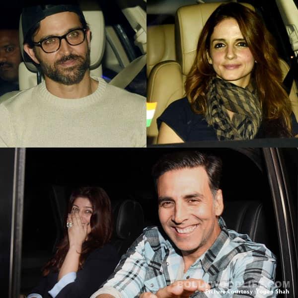 Akshay Kumar, Twinkle Khanna, Sussanne Khan, Hrithik Roshan go on a double date – view HQ pics