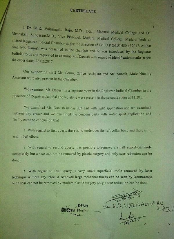 Dhanush paternity claims