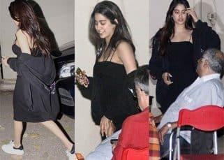 What's Jhanvi Kapoor SECRETLY shooting at a film studio? View HQ pics