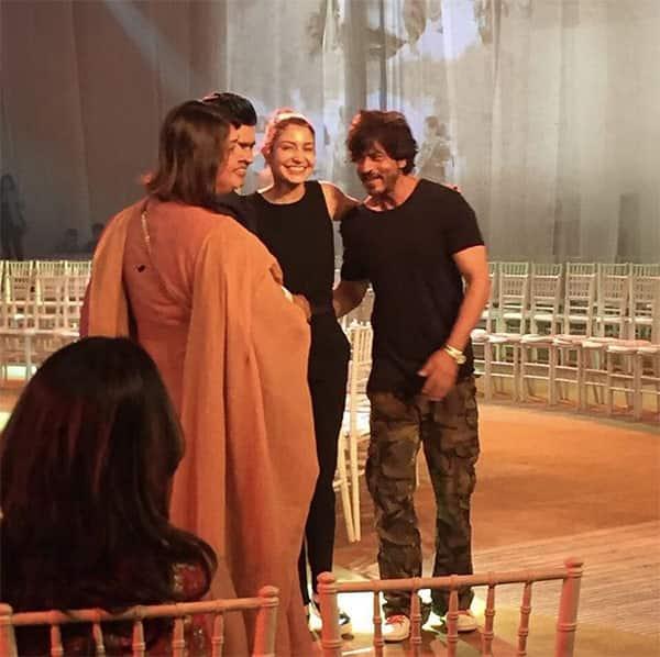 Here is a sneak peek video of Shah Rukh Khan and Anushka Sharma rehearsing their walk for Mijwan Summer 2017