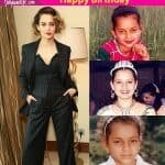 8 childhood pictures of birthday girl Kangana Ranaut which prove that she was always Bollywood ready