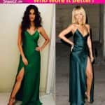 Disha Patani or Rihanna - who wore this green high-slit gown better?