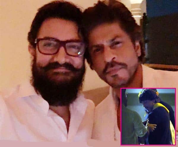 INSIDE PICS! Shah Rukh Khan secretly attends Aamir Khan's 52nd birthday bash