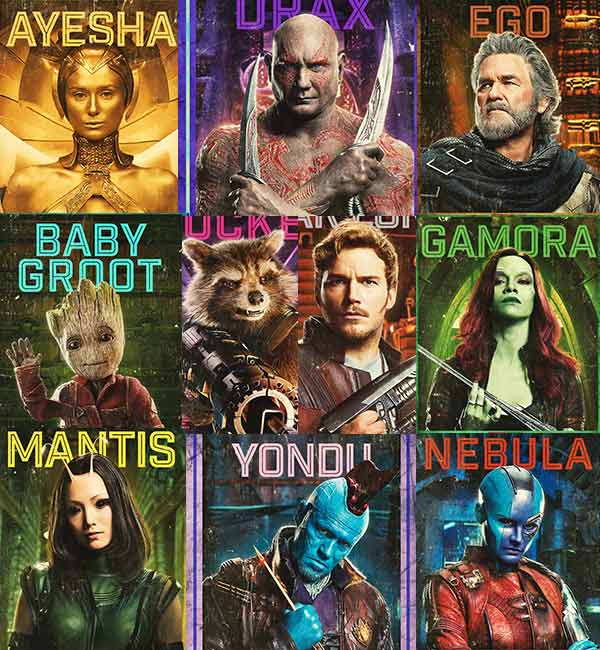 guardians of the galaxy vol 2 new character posters will excite