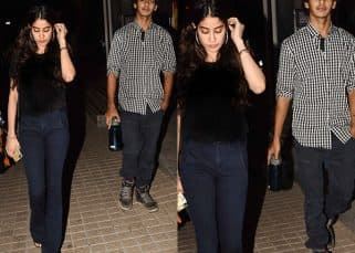 Dunno about dating Sara Ali Khan but Ishaan Khattar goes on a movie date with Jhanvi Kapoor - view HQ pics