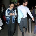 While Kajol - Nysa return from a vacation, Aamir takes Aazad and Ira to one - view airport pics!