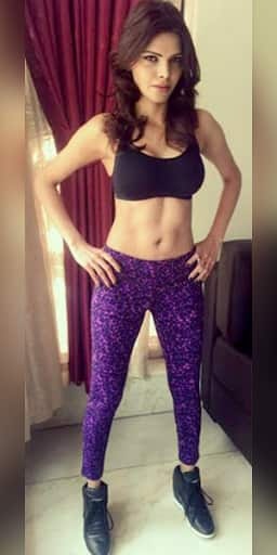 Sherlyn Chopra's hot workout pictures