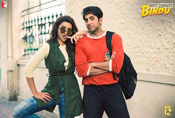 Meri Pyaari Bindu new still: Parineeti Chopra and Ayushmann Khurrana are up to some mischief