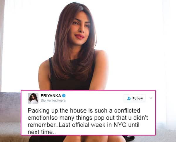 It's Priyanka Chopra's last week in New York