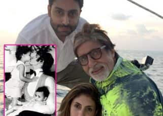 Amitabh Bachchan shares a childhood pic of Abhishek and Shweta, when they visited the sets of Amar Akbar Anthony