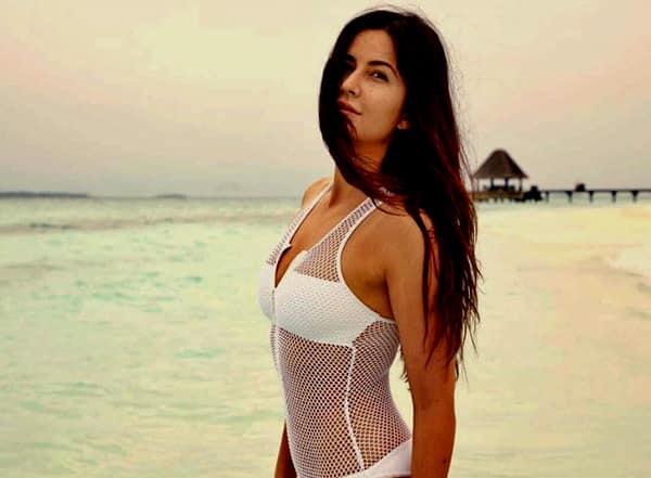 Katrina Kaif in white swimsuit