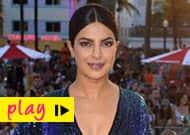 Watch Priyanka Chopra get a peck on her cheek from Dwayne Johnson