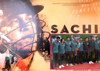 Sachin Tendulkar's former team-mates Mahendra Singh Dhoni, Shikhar Dhawan, R Ashwin attend the special screening of Sachin: A Billion Dreams - view pics