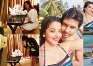 Mona Lisa and Vikrant Singh Rajpoot have a whale of a time at their much delayed honeymoon - view pics!