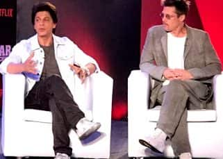 Shah Rukh Khan and Brad Pitt sharing a stage together has left Twitter mesmerised - read tweets