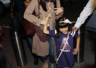 Aishwarya Rai Bachchan, with daughter Aaradhya, leaves for Cannes looking pretty as ever  - view airport pics