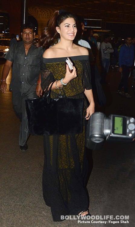 Jacqueline Fernandez in Shift by Nimish Shah maxi dress