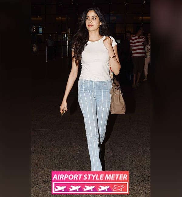 Jhanvi Kapoor Airport Style Rating