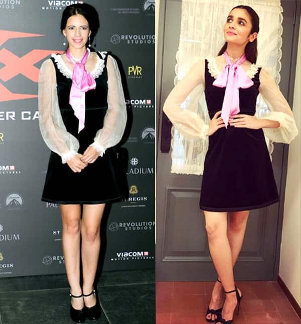 Kalki Koechlin and Alia Bhatt in similar a Gucci dress