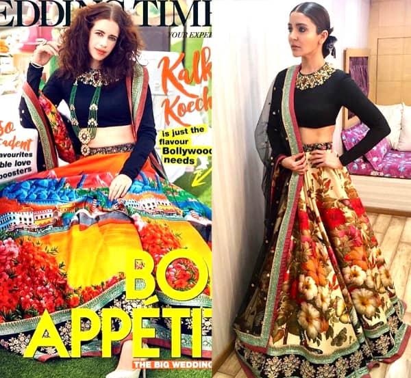 Kalki Koechlin and Anushka Sharma in similar Sabyasachi creations
