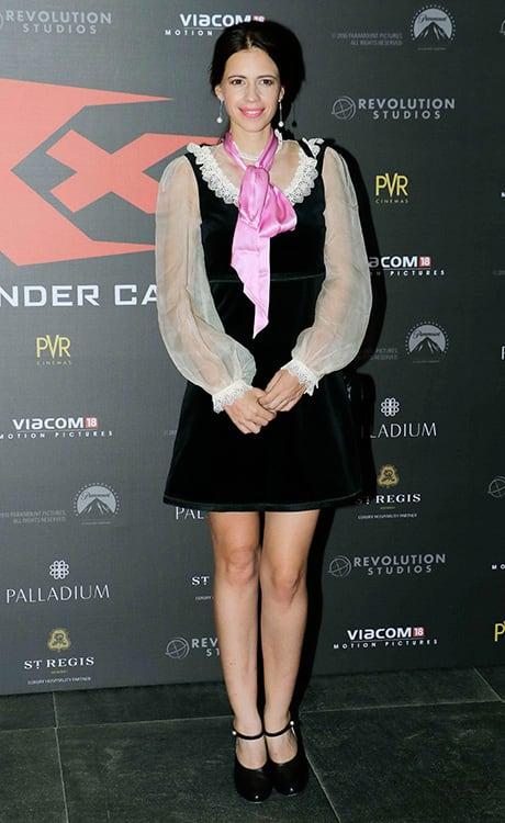 Kalki Koechlin at the premiere of xXx Return Of Xander Cage