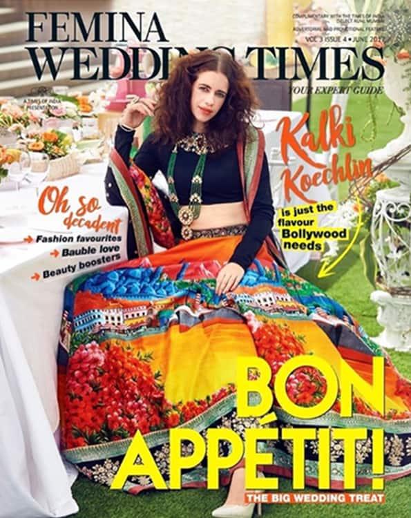 Kalki Koechlin on the cover of Femina Wedding Times cover