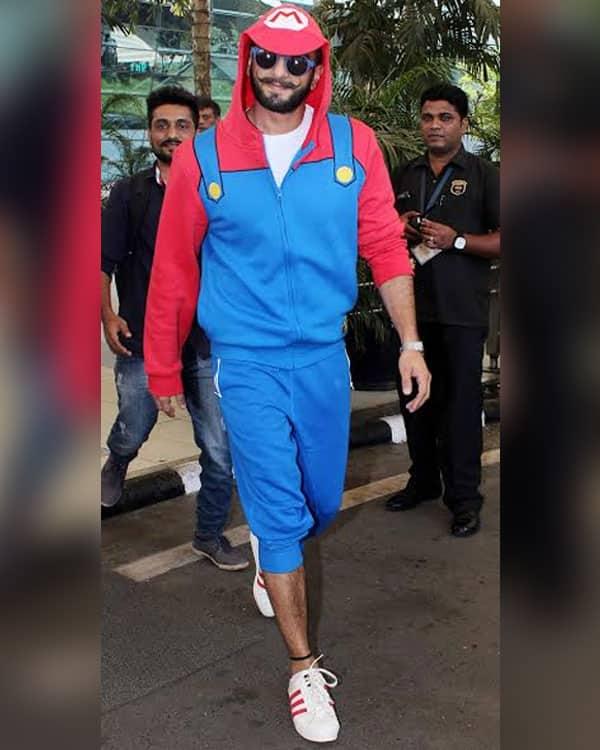 Ranveer Singh in colorful sporty wear